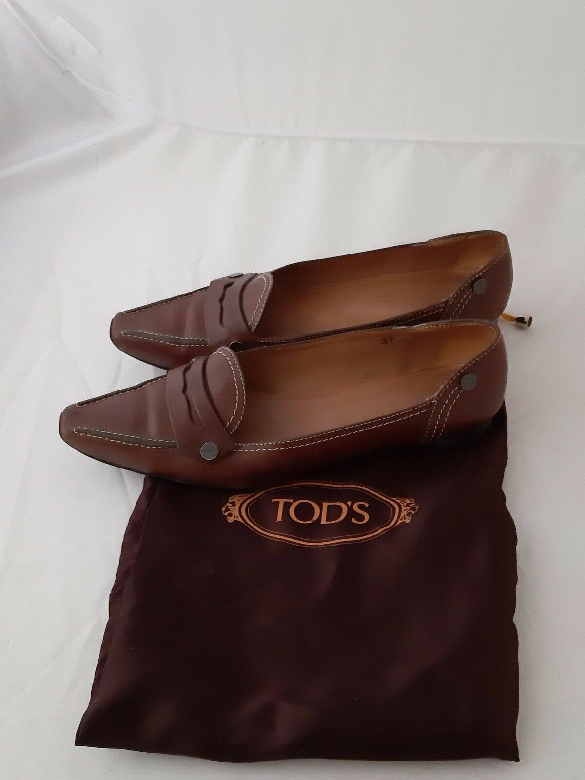 Tod's Brown Brown Brown leather shoes size 37 ba3f27