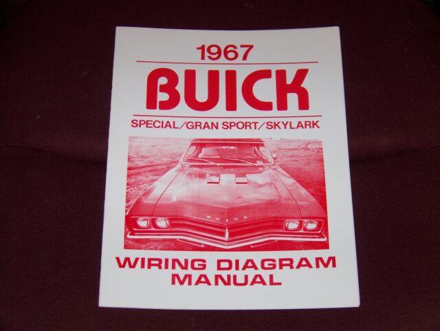 1967 Buick Wiring Diagram Manual Gs Skylark Special 67