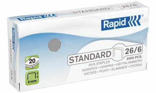 1000 Stück Rapid Heftklammern Standard 23//6 galvanisiert verzinkt Tacker Nadeln