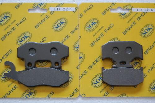 FRONT REAR BRAKE PADS fits YAMAHA YZ 125 250, 90-97 YZ125 YZ250 YZ250WR