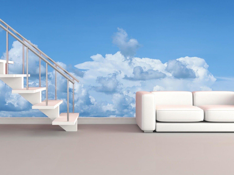 Vlies Tapete XXL Poster Fototapete  Himmel Wolken blau