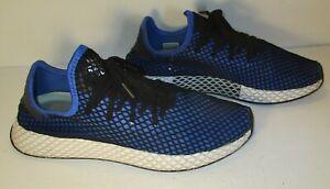 ampliar diario Dislocación  Adidas Mesh Deerupt Boost Men's Shoes Black Blue 11 Style 675005 Sneakers |  eBay
