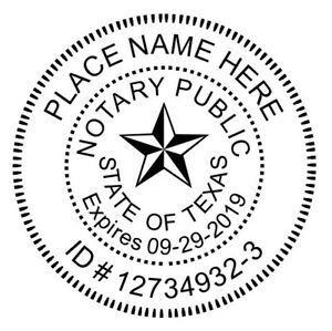 Details About Texas Custom Notary Round Self Inking Notary Seal Rubber Stamp