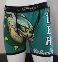 Ed Hardy Men's Athletic Bulldog Vintage Boxer Briefs Size Large