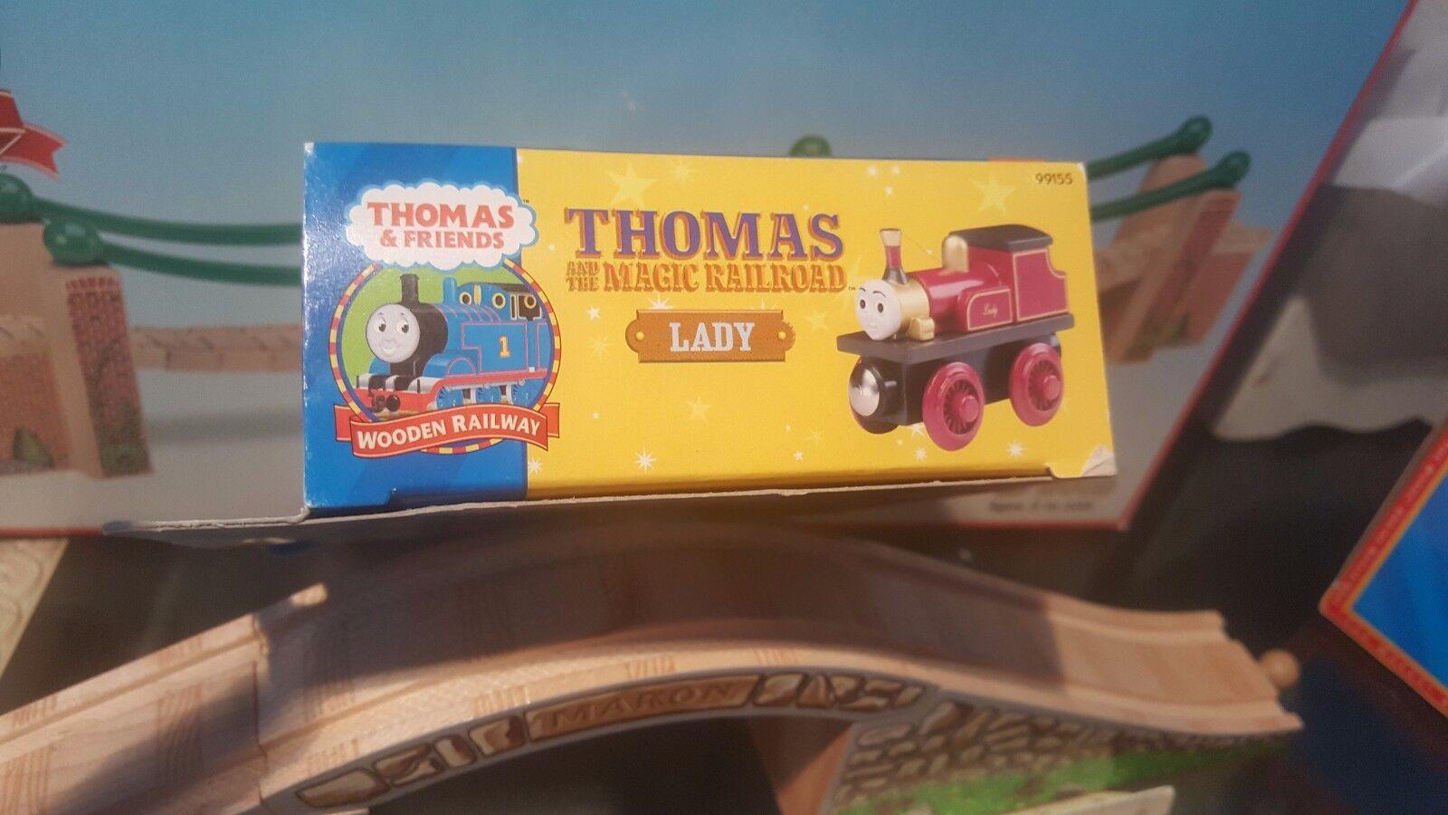 THOMAS & FRIENDS WOODEN RAILWAY  LADY RETIROT  LC99155 RARE RETIROT LADY MAGIC RAILROAD d8893b