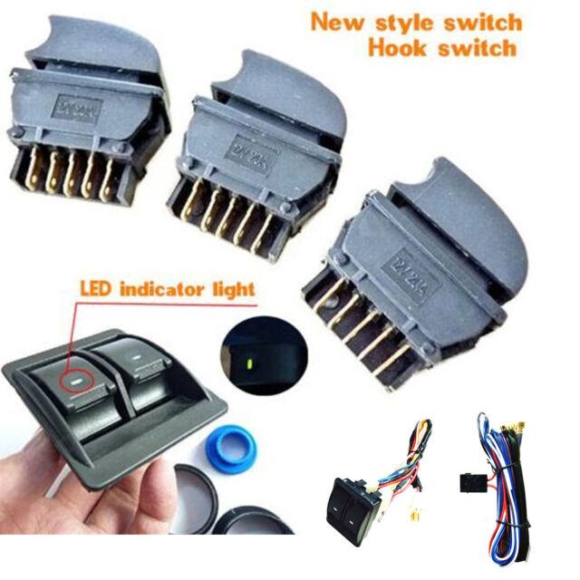12v Car Power Window Switch With Wire Harness Universal Kits ...