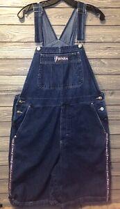 90's Retro WNBA women's size XL denim jean shorts overalls basketball USA Made