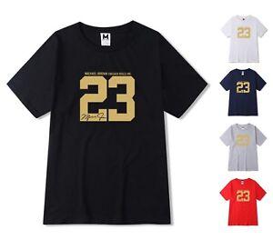 NEW-Gold-Print-Mens-T-shirt-Michael-Air-Legend-23-Jordan-Men-shirt-Top-Fashion