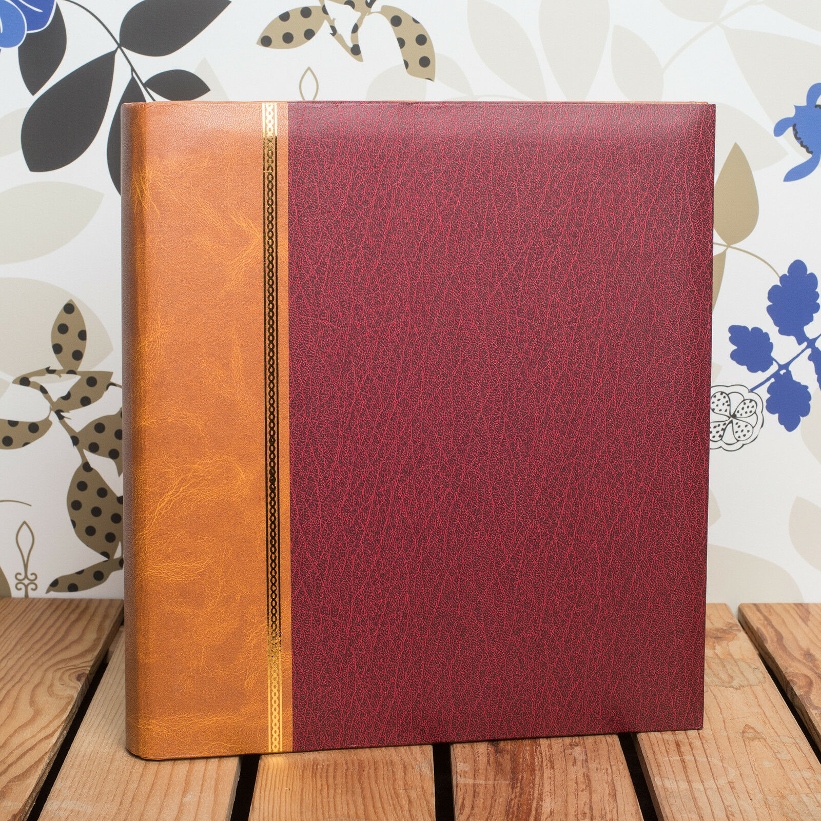 FITS ANY SIZE PHOTO UPTO 12x10 INCH CLASSIC TRADITIONAL ROYAL RED PHOTO ALBUM