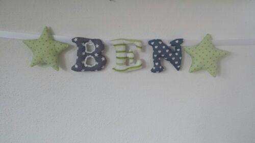 Namensgirlande 1 Buchstaben 3 Euro.Geschenk zur Taufe Baby Geburt Handarbeit