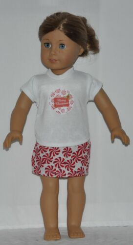 Christmas Skirt Set Fits American Girl Dolls