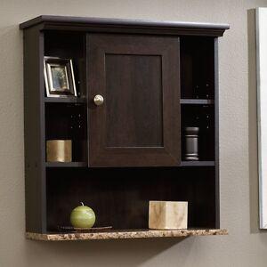 Details About Bathroom Wall Cabinet Storage Shelf Cinnamon Cherry Medicine Organizer Wood New