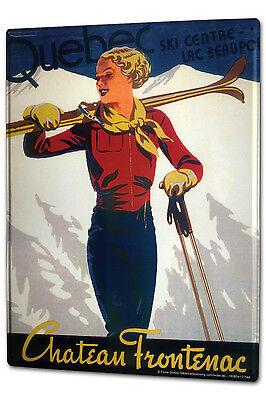 Aktiv Blechschild Xxl Sport Ski Frau Frankreich Eine GroßE Auswahl An Waren