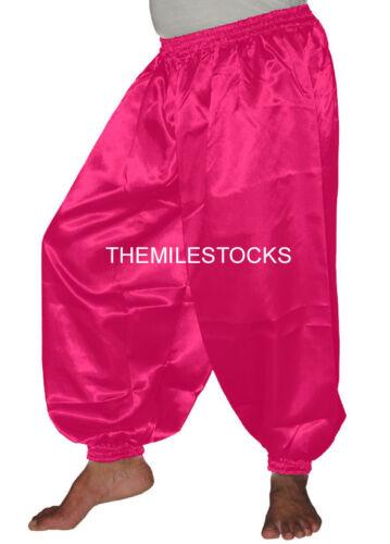 30 Color TMS Satin Harem Yoga Pant Belly Dance Boho Hippy Pantalons Black