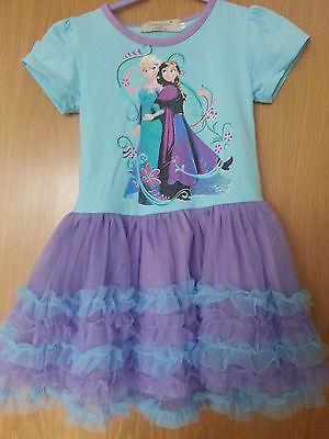 IN STOCK UK girls dress kids children short sleeve FROZEN Anna Elsa girl dresses