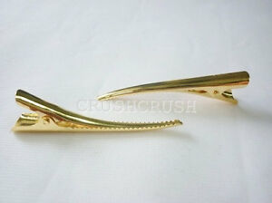 25pcs-55mm-Gold-Single-Prong-Alligator-Hair-Clips-Teeth-Blanks-Findings-C173