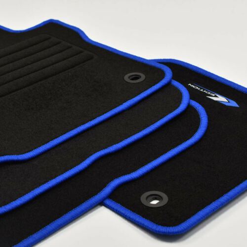 Velours Fußmatten Edition blau für VW Caddy Life ab Bj.2004-2015 ovale Bef