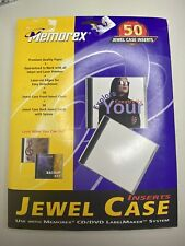Memorex Jewel Case Inserts Opened Partial Pack Of 34 Free Shipping