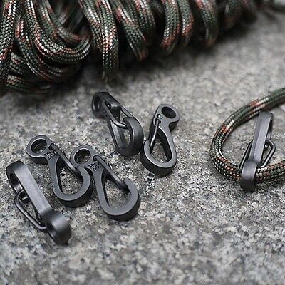 10x Mini EDC Gear Snap Spring Clip Hook Stainless Steel Outdoor SF Keyring Tool