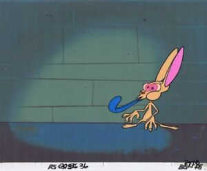 Ren-amp-Stimpy-Production-Cel-COA-Animation-Cell-Pilot-Big-House-Blues-1990-039-s-Rare