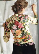 "L Extremely Rare Anthropologie Embroidered ""Rose Garden Cardigan "" Sweater"