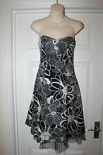 Ladies Black & White Tom Wolfe Dress Size 8 Prom Wedding Evening Party