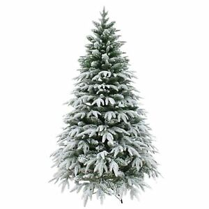 image is loading real look designer artificial christmas tree snow covered