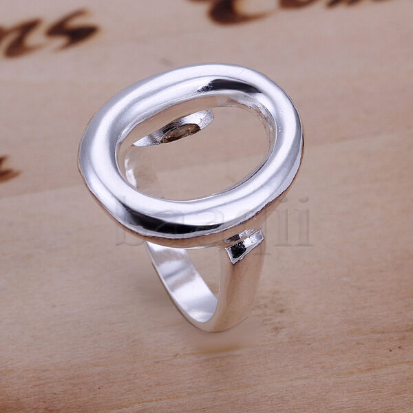 Silver Plated Open Circle Ring Jamber Jewels American Sizes  8 MA