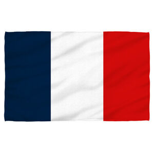 France Flag Lightweight Beach Towel