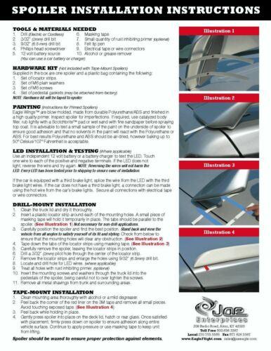 Factory Style Flush Mount Unpainted Rear Spoiler Fits 2011-2016 Scion tC