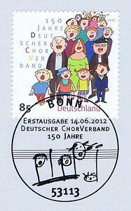 Glorieux Rfa 2012: Deutscher Chorverband Nº 2939 Avec Bonner Ersttags-cachet Spécial! 1a-rstempel! 1afr-fr Afficher Le Titre D'origine Haute Qualité