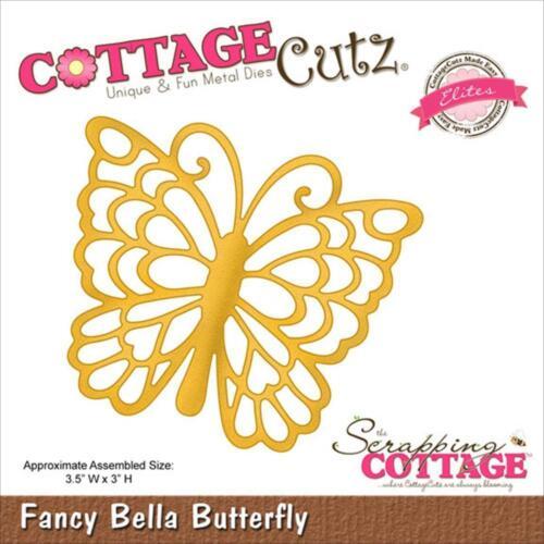"""3.5/""""X3/"""" CCE011 RETIRED! CottageCutz Die Elites Die ~ Fancy Bella Butterfly"""