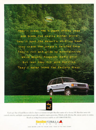1996 Land Rover Range Rover Classic Vintage Advertisement Ad D156 Stoney