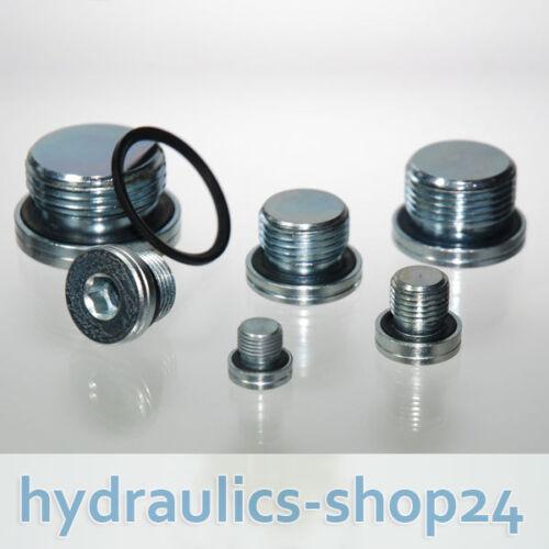 "10 Stück VSTI 1//8/"" ED 400 bar DIN 908 Hydraulik Verschlussschraube"