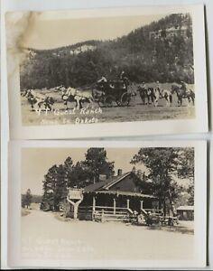 2-Vintage-Real-Photo-Nemo-South-Dakota-4T-Guest-Ranch-Real-Photo-Postcards-RPPC
