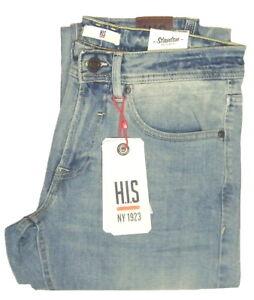H-I-S-Herren-STRETCH-Jeans-Modell-STANTON-Gentle-Blue-hellblau-100599-B-Ware