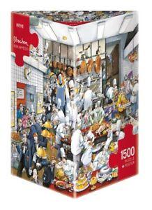 (HY29130) - Heye Puzzles - Triangular , 1 500 Pc - Bon appétit!, Blachon