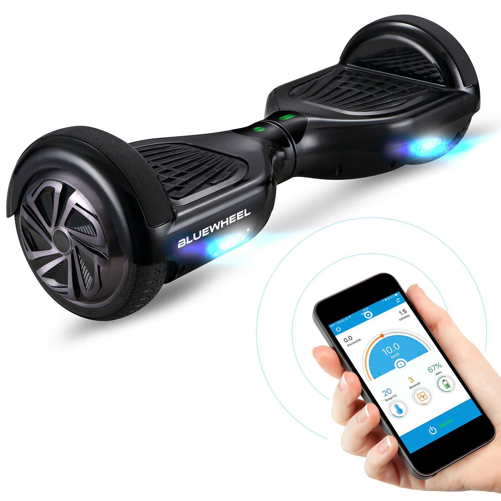 HX310s Hoverboard Gyropode Blautooth 6,5