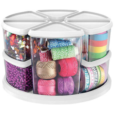 Devoted Diy Arts Crafts Sewing Hobby Box Storage Rotating Carousel Organiser Tidy Caddy Multi-purpose Craft Supplies