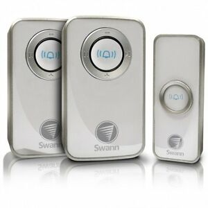 2017-Model-New-Package-Swann-Twin-Pack-Wireless-Chime-Door-Bell-with-Mains-Power