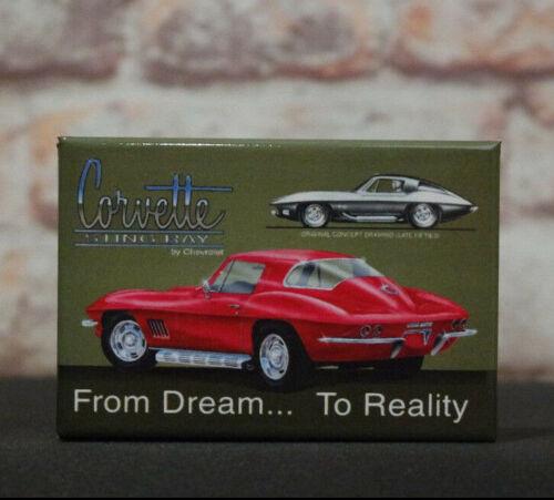 Corvette Stingray  Refrigerator Toolbox Magnet All American Man Cave