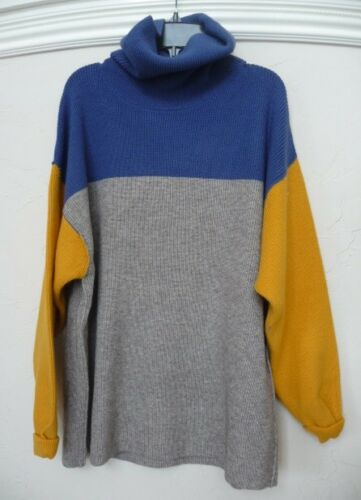 NWT Free People softly structured colorblock Turtleneck Sweater Retail $168