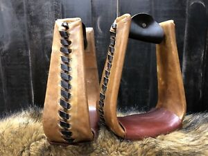 1 Set of Rawhide Roper Stirrups - Western/roping