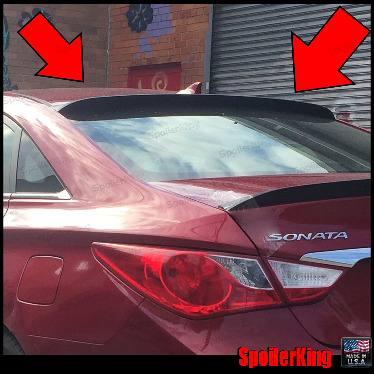 SpoilerKing Fits: Hyundai Sonata 2011-14 Rear Roof Spoiler Window Wing