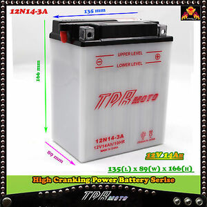 YB14L-A2-12N14-3A-YTX14AHL-BS-12V-14Ah-Motorcycle-Quad-Dirt-Bike-ATV-Battery