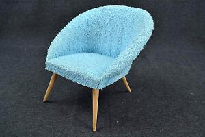Cocktailsessel blau  50er 60er Jahre Cocktailsessel Blau Puppenhaus Miniatur Sessel ...