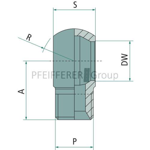 "Granit PNB//TNP Adaptateur ringstutzen Avec AG Filetage ringstutzen 3//8/"" BSP x BSP 6"