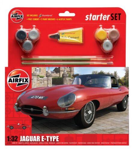1//32 scale-E Type Jaguar Airfix Model Kit