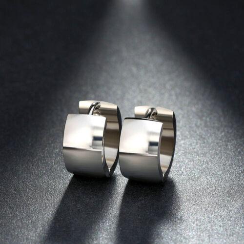 Steel Round Earring Crystal Cool Women 1 Pair Punk Jewelry Hoop Earrings