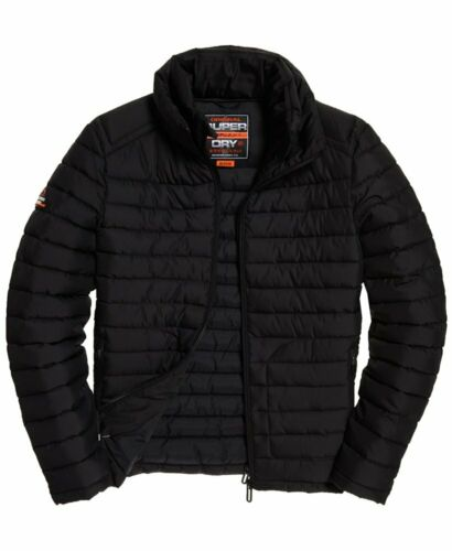 Superdry noir double zip FUJI Jacket-M5000022A-AFB